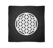 White Flower of Life Scarf