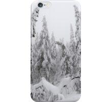 Winter forest, heavy snow iPhone Case/Skin
