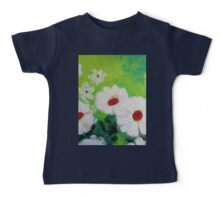 Abstract Daisies Acrylic Painting Baby Tee