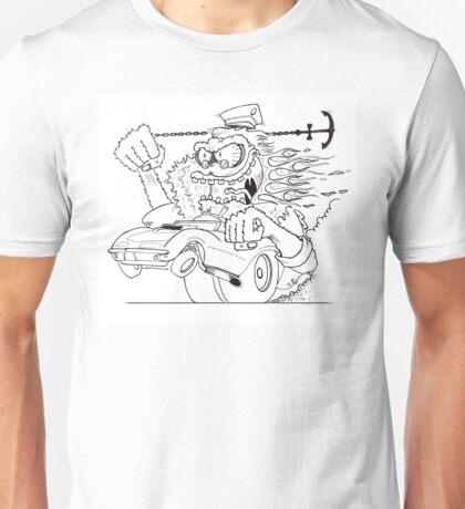 Rat Fink Style Monster & 1967 Corvette Unisex T-Shirt