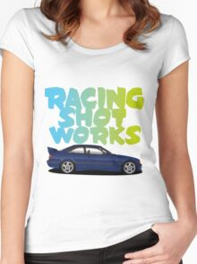 Racing Shot Works collaboration Women's Fitted Scoop T-Shirt