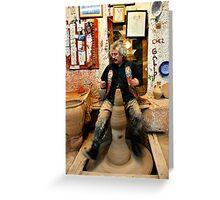 Einstein's pottery dance Greeting Card