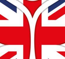 Tomorrowland UK logo - Union Jack Sticker