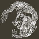 Asian Art White Dragon by Zehda