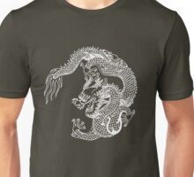 Asian Art White Dragon Unisex T-Shirt