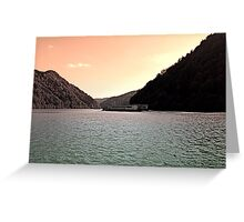 Danube river ship at evening | waterscape photography Greeting Card