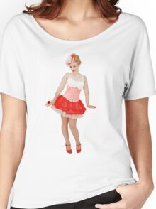 Pixie in Red T-shirt Women's Relaxed Fit T-Shirt