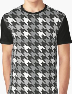 Plaid Houndstooth Graphic T-Shirt