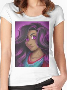 Stevonnie portrait Women's Fitted Scoop T-Shirt