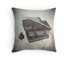 Antique stack of books Throw Pillow
