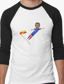 Corner flag flying kick Men's Baseball ¾ T-Shirt