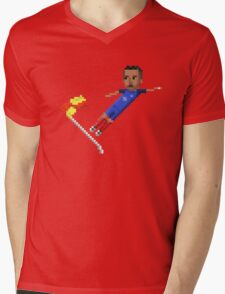 Corner flag flying kick Mens V-Neck T-Shirt