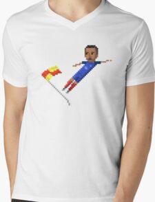 Corner flag flying kick Mens V-Neck T-Shirt
