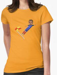 Corner flag flying kick Womens Fitted T-Shirt
