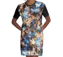 Fall in the Rockies (Right Panel) by Lena Owens Graphic T-Shirt Dress