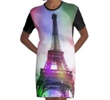 Eiffel tower - Paris Graphic T-Shirt Dress