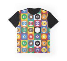Pool Ball Checkerboard Graphic T-Shirt