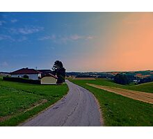 Country road on a summer afternoon II | landscape photography Photographic Print