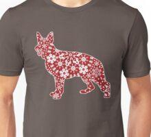 Christmas Snowflakes German Shepherd Unisex T-Shirt