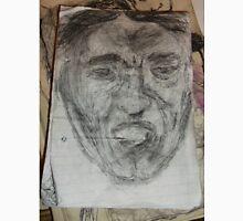 Male Head/Gargoyle/Copy -(300516)- Black biro pen/A5 sketchbook Unisex T-Shirt