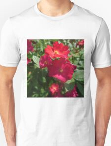 Colorful Shrub Roses Unisex T-Shirt
