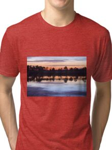 Sunrise on Webb Lake Tri-blend T-Shirt