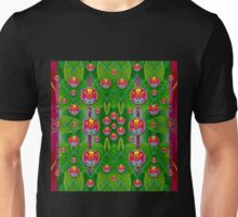Orchid Forest Filled of big flowers and chevron Unisex T-Shirt