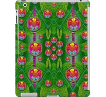 Orchid Forest Filled of big flowers and chevron iPad Case/Skin