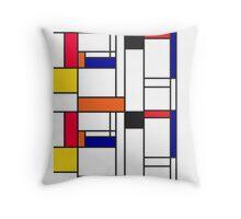 Mondrian inspired pattern Throw Pillow