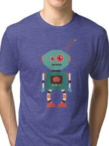 Fun Retro Robot Art Tri-blend T-Shirt