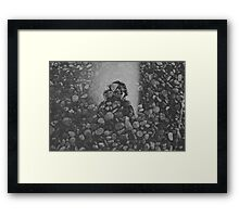 stone and mirror Framed Print