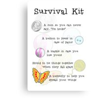 Survival Kit Canvas Print