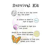 Survival Kit Photographic Print