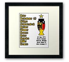 West Germany Euro 1972 Winners Framed Print