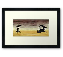 ...And the gunslinger followed Framed Print