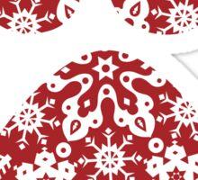 Christmas Snowflakes Dog Paw Print Sticker