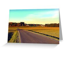 Country road through indian summer   landscape photography Greeting Card