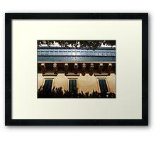 Shaded Facade Framed Print