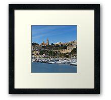 Mgarr Harbor Framed Print