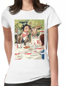 Vintage illustration Alice in Wonderland  Womens Fitted T-Shirt