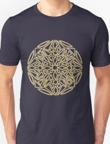 Golden mandala on black - OneMandalaADay Unisex T-Shirt