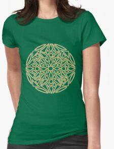 Golden mandala on black - OneMandalaADay Womens Fitted T-Shirt