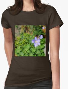 Flax Flower Womens Fitted T-Shirt