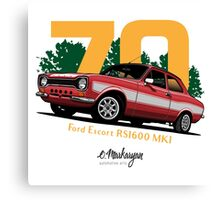 Ford Escort RS1600 (red) Canvas Print