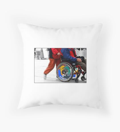Wheels of Life Throw Pillow
