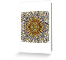 Intricate Fretwork Over White Greeting Card