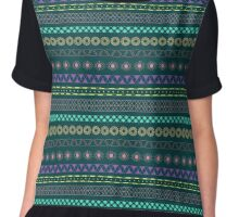 Color the Pattern Chiffon Top