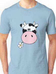 Cow munching flower Unisex T-Shirt