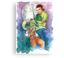 Moonbeam and ace pilot Canvas Print