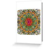 Graphic Fantasy With A Warm Heart Greeting Card